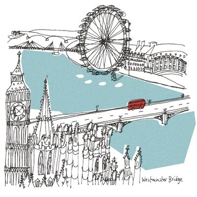 Art Group London by Susie Brooks Canvas Wall Art