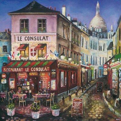 Art Group Le Consulat, Paris by Melissa Sturgeon Canvas Wall Art