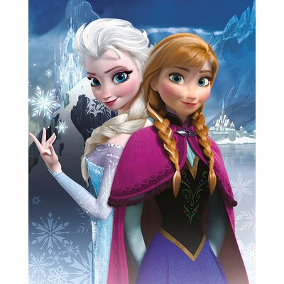 Art Group Frozen, Anna and Elsa Vintage Advertisement Canvas Wall Art