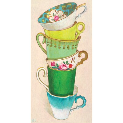 Art Group 6 Tea Cups by Andrea Letterie Canvas Wall Art