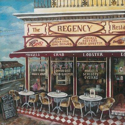 Art Group The Regency Restaurant, Brighton by Melissa Sturgeon Canvas Wall Art