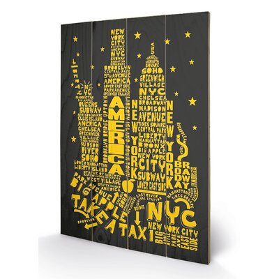 Art Group Citography New York Typography Plaque