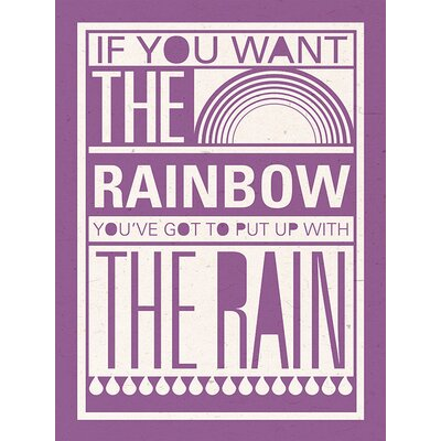 Art Group Rainbow by Sarah Winter Typography Canvas Wall Art