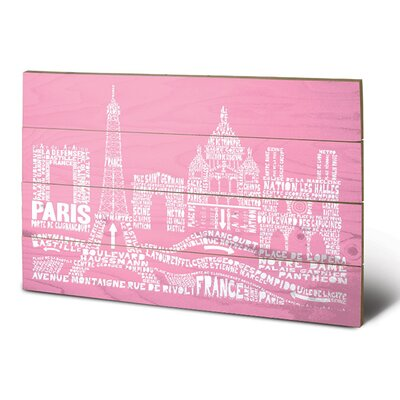 Art Group Citography Paris Typography Plaque