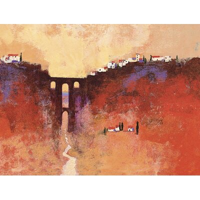 Art Group New Bridge, Ronda by Colin Ruffell Art Print on Canvas