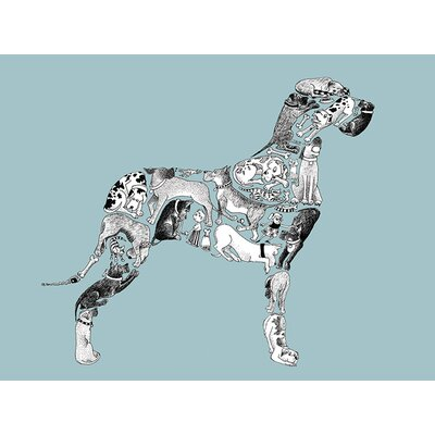 Art Group Great Dane by Louise Tate Collage Graphic Art on Canvas