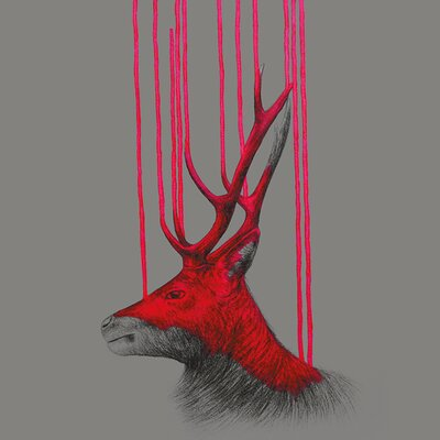 Art Group Wild Stag by Louise McNaught Canvas Wall Art