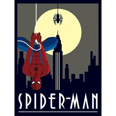 Art Group Marvel Deco, Spider-Man Hanging Vintage Advertisement Canvas Wall Art