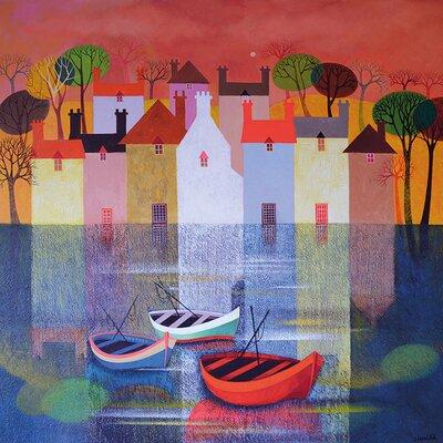 Art Group Reflection by Sunita Khedekar Canvas Wall Art