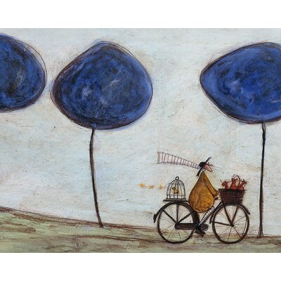 Art Group Freewheelin with Joyce Greenfields and the Felix 3 by Sam Toft Canvas Wall Art