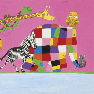 Art Group Elmer's Friends are All Different by David McKee Canvas Wall Art