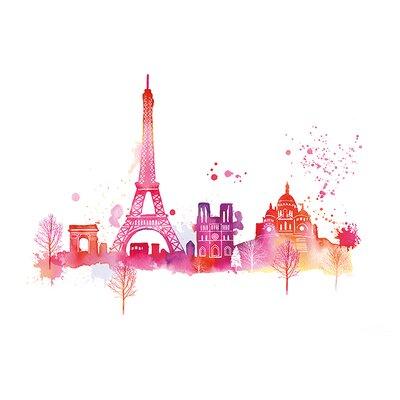 Art Group Paris Skyline Small by Summer Thornton Canvas Wall Art
