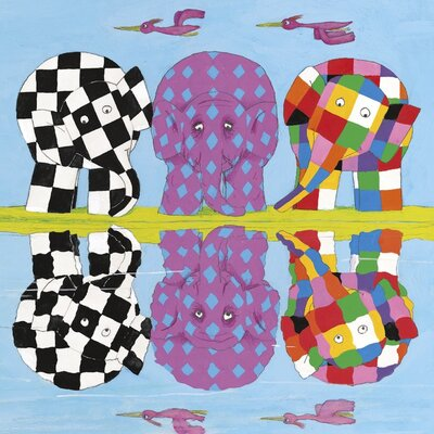 Art Group Elmer's Family Reflections by David McKee Canvas Wall Art