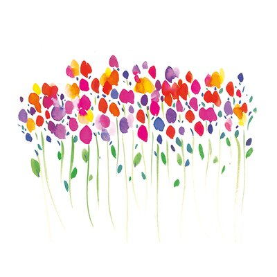Art Group Vibrant Floral by Summer Thornton Art Print on Canvas