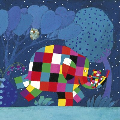 Art Group Elmer and the Lost Teddy by David McKee Canvas Wall Art