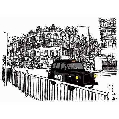 Art Group Taxi by Frank Kiely Canvas Wall Art