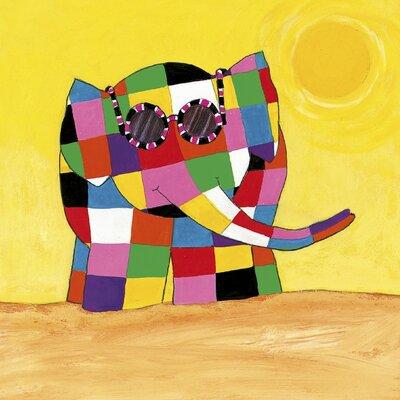 Art Group Elmer in the Sun by David McKee Art Print on Canvas
