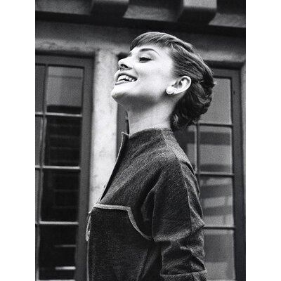 Art Group Smiling Audrey Hepburn Canvas Wall Art
