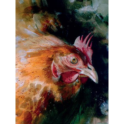 Art Group Brown Chicken by Simon Howden Art Print on Canvas
