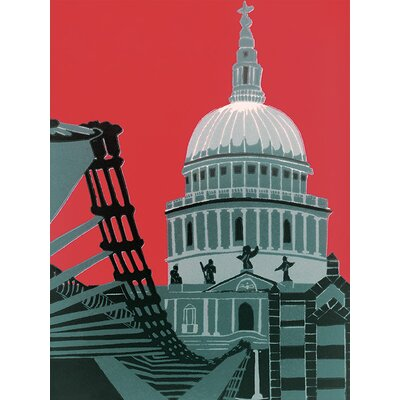 Art Group St. Paul's Cathedral by Jennie Ing Art Print on Canvas