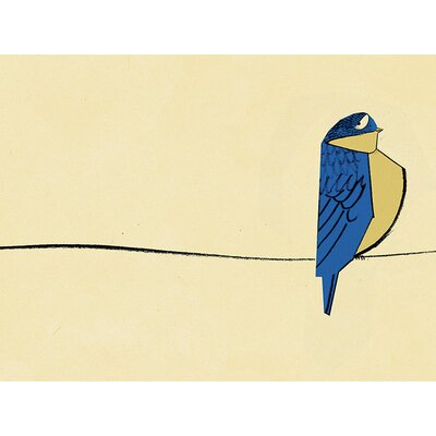 Art Group Finch On The Line by Ellie Foreman-Peck Canvas Wall Art