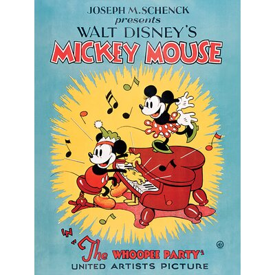 Art Group Mickey Mouse, The Whoopee Party Vintage Advertisement Canvas Wall Art
