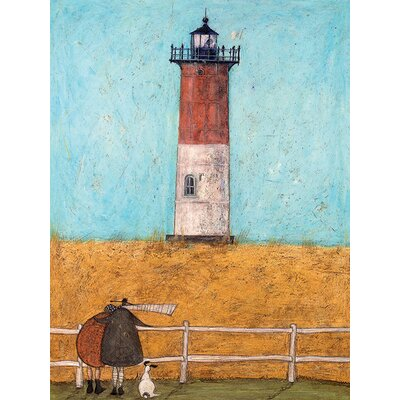 Art Group Feeling the Love at Nauset Light by Sam Toft Canvas Wall Art
