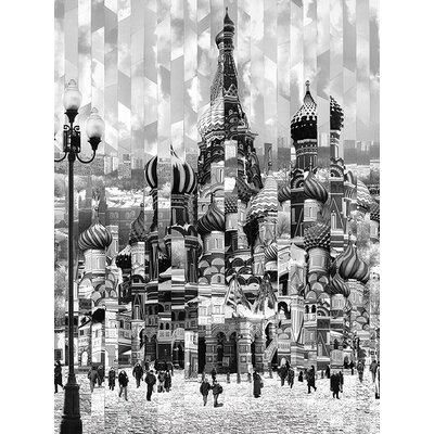 Art Group Impression Russe by Serge Mendjisky Graphic Art on Canvas