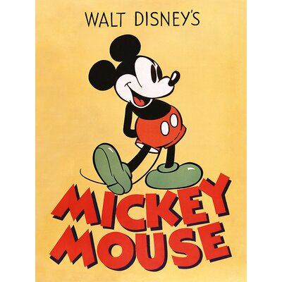 Art Group Mickey Mouse, Mickey Vintage Advertisement Canvas Wall Art