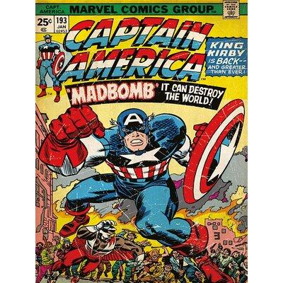 Art Group Captain America Madbomb Vintage Advertisement on Canvas