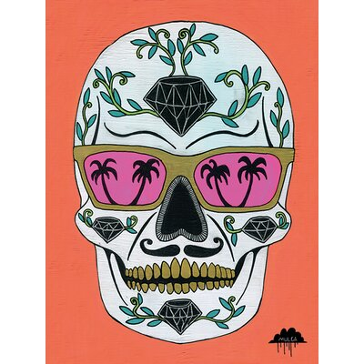 Art Group Mulga, Schubert the Diamond Sugar Skull Canvas Wall Art