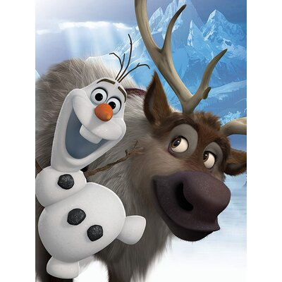 Art Group Frozen, Olaf and Sven Vintage Advertisement Canvas Wall Art