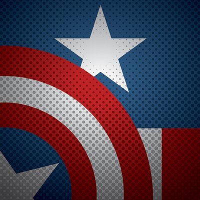 Art Group Avengers Captain America Torso Canvas Wall Art