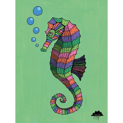 Art Group Mulga, Sarah the Magical Seahorse Canvas Wall Art