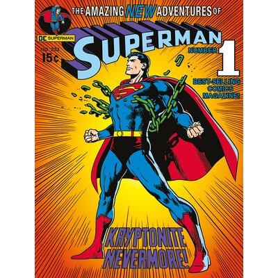 Art Group Superman Krytonite Vintage Advertisement Canvas Wall Art