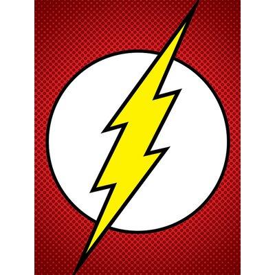 Art Group DC Comics The Flash Symbol Canvas Wall Art