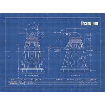 Art Group Doctor Who Dalek Vintage Advertisement on Canvas