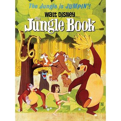 Art Group The Jungle Book - Jumpin Vintage Advertisement Canvas Wall Art