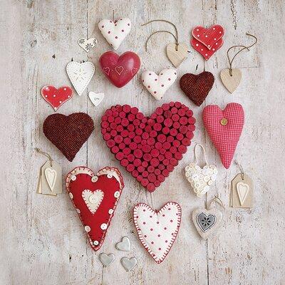 Art Group Hearts by Howard Shooter Canvas Wall Art