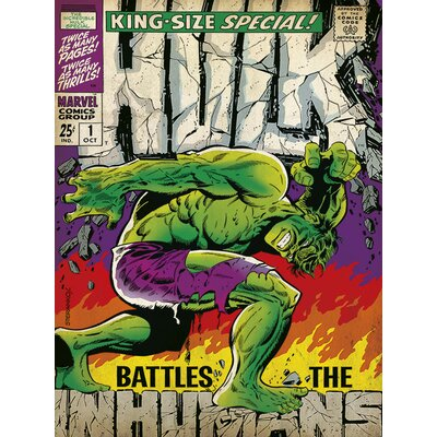 Art Group Hulk, Inhumans Vintage Advertisement Canvas Wall Art