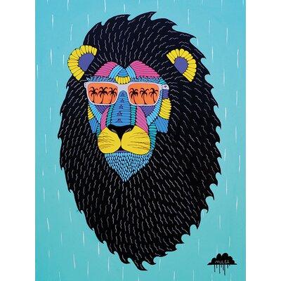 Art Group Mulga, Leroy the Lion Canvas Wall Art