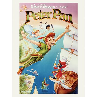 Art Group Peter Pan, Flying Vintage Advertisement Canvas Wall Art