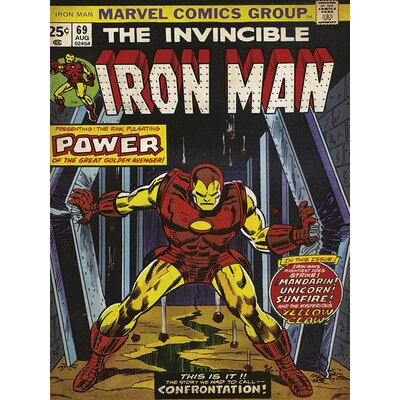 "Art Group Iron Man ""Power"" Vintage Advertisement Canvas Wall Art"