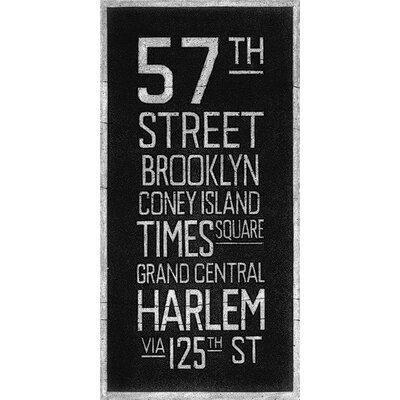 Art Group New York Destination by Barry Goodman Typography Canvas Wall Art