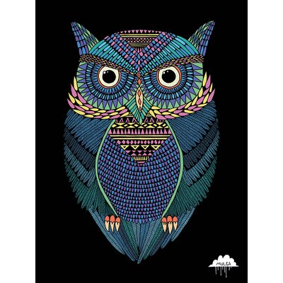 Art Group Mulga, Michael the Magical Owl Canvas Wall Art