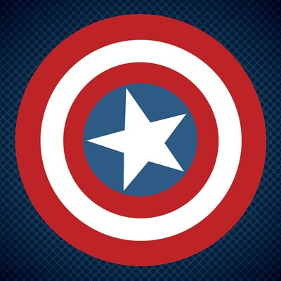 Art Group Captain America Shield by Avengers Assemble Canvas Wall Art