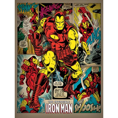 "Art Group Iron Man ""Retro"" Poster Canvas Wall Art"
