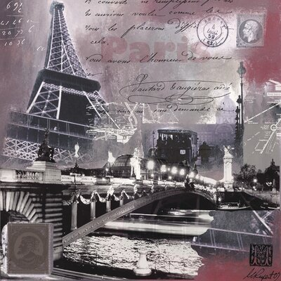 Art Group Paris Scintillante by Martine Rupert Graphic Art on Canvas