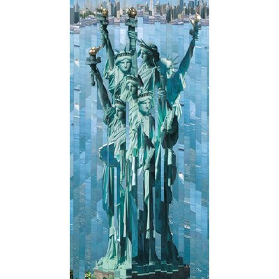 Art Group Statue de la Liberte by Serge Mendjisky Canvas Wall Art