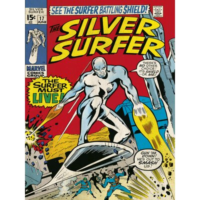 Art Group Must Live - Silver Surfer Canvas Wall Art